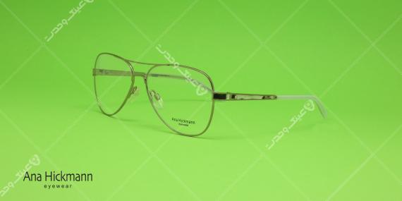 عینک طبی مدل خلبانی آنا هیکمن - Ana Hickmann Aviator - رنگ نقره ای - عکاسی وحدت - زاویه سه رخ