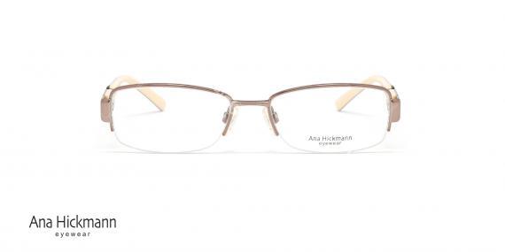 عینک طبی آنا هیکمن - رنگ رز گلد - عکاسی وحدت - زاویه رو به رو