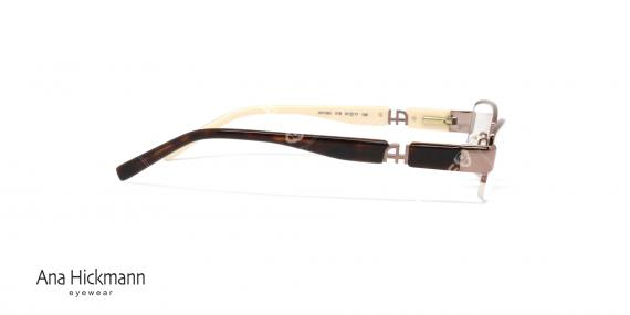 عینک طبی آنا هیکمن - رنگ رز گلد - عکاسی وحدت - زاویه کنار
