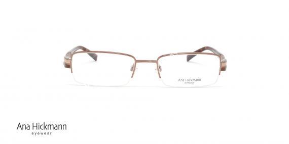 عینک طبی زنانه فلزی زیر گریف آنا هیکمن - رنگ قهوه ای - عکاسی وحدت - زاویه رو به رو