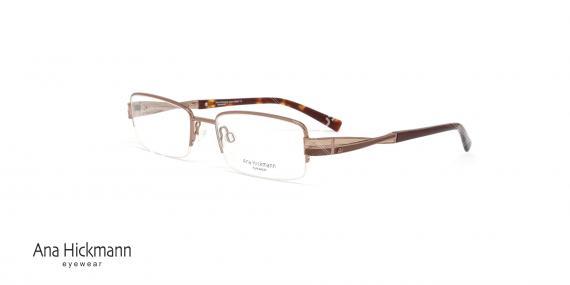 عینک طبی زنانه فلزی زیر گریف آنا هیکمن - رنگ قهوه ای - عکاسی وحدت - زاویه سه رخ