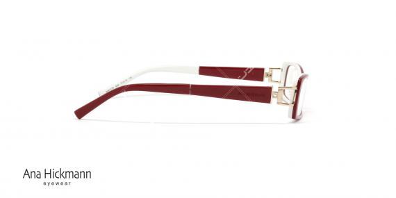 عینک طبی مستطیلی شکل آنا هیکمن Ana Hickmann AH6127 - عکاسی وحدت - زاویه کنار