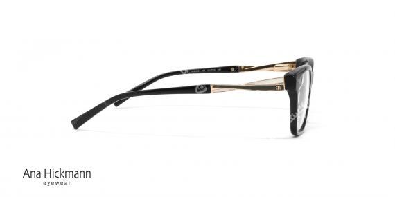 عینک طبی کائوچویی آنا هیکمن مشکی رنگ AH6222 - عکاسی وحدت - زاویه کنار