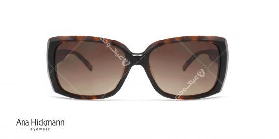 عینک آفتابی مربعی شکل آناهیکمن - بدنه قهوه ای هاوانا عدسی ها قهوه ای طیف دار - عکاسی وحدت - زاویه رو به رو