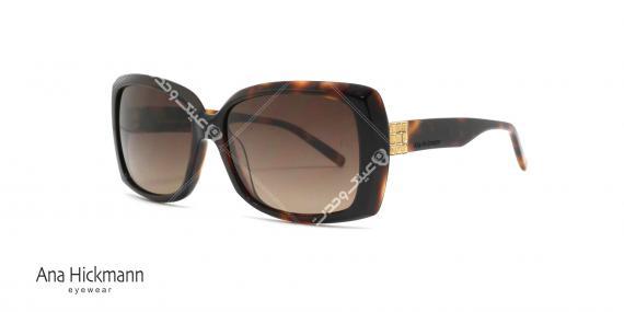 عینک آفتابی مربعی شکل آناهیکمن - بدنه قهوه ای هاوانا عدسی ها قهوه ای طیف دار - عکاسی وحدت - زاویه سه رخ