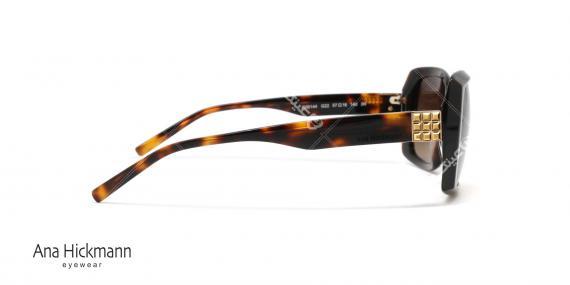 عینک آفتابی مربعی شکل آناهیکمن - بدنه قهوه ای هاوانا عدسی ها قهوه ای طیف دار - عکاسی وحدت - زاویه کنار