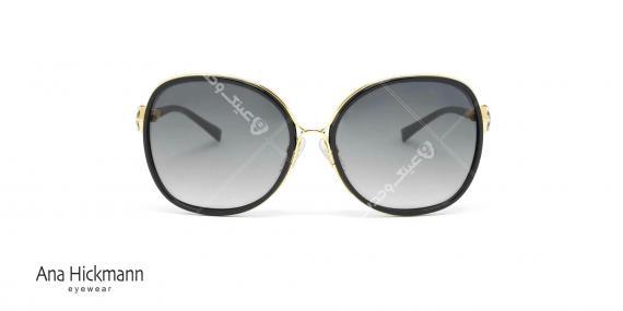 عینک آفتابی آنا هیکمن - مدل پروانه ای - نگین دار - مشکی طلائی - عکاسی وحدت - زاویه رو به رو