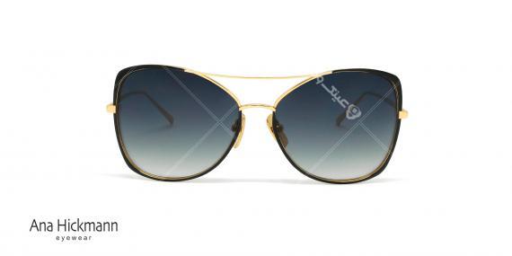 عینک آفتابی آناهیکمن - فلزی دسته طلایی رنگ مدل پروانه ای - عکاسی وحدت - زاویه رو به رو