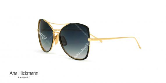 عینک آفتابی آناهیکمن - فلزی دسته طلایی رنگ مدل پروانه ای - عکاسی وحدت - زاویه سه رخ