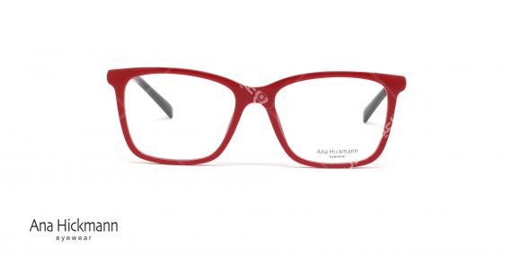 عینک طبی آناهیکمن - دسته دورو - قرمز- عکاسی وحدت - زاویه رو به رو