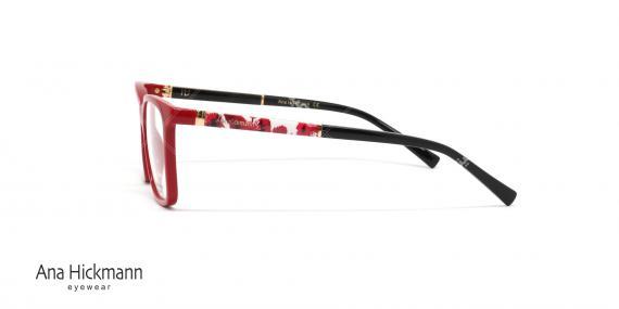 عینک طبی آناهیکمن - دسته دورو - قرمز- عکاسی وحدت - زاویه کنار