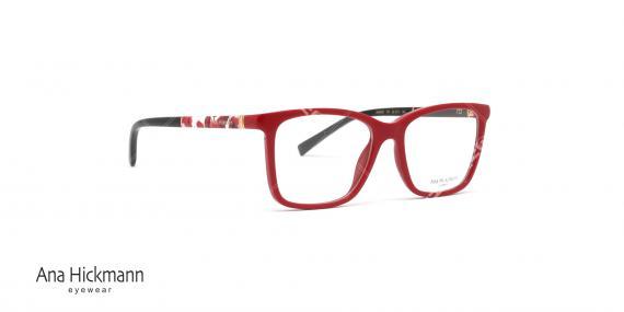 عینک طبی آناهیکمن - دسته دورو - قرمز- عکاسی وحدت - زاویه سه رخ