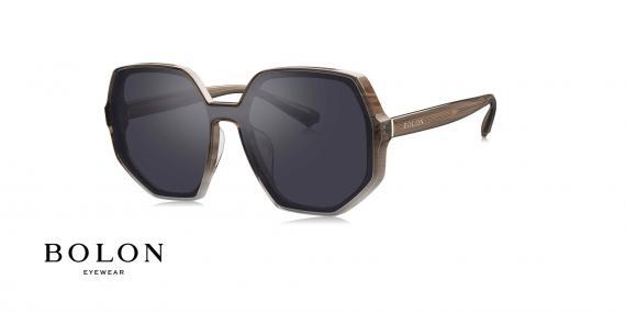 عینک آفتابی چندضلعی زنانه بولون - BOLON BL3025 - عکاسی وحدت - عکس زاویه سه رخ