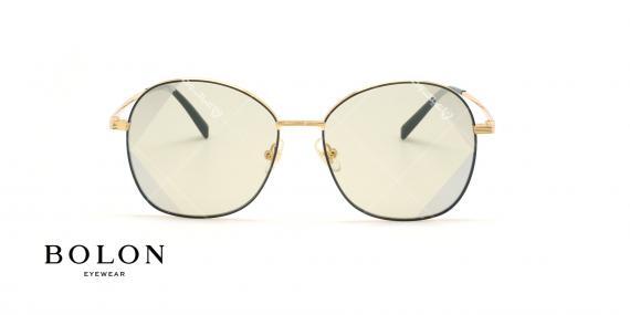 عینک آفتابی پروانه بولون - BOLON BL7056 - طلایی مشکی - عکاسی وحدت - زاویه روبرو