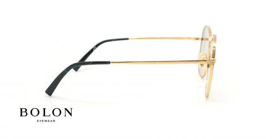 عینک آفتابی پروانه بولون - BOLON BL7056 - طلایی مشکی - عکاسی وحدت - زاویه کنار