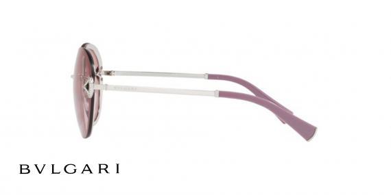عینک آفتابی گرد Bvlgari - رنگ بنفش - زاویه کنار