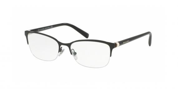 عینک طبی زیرگریف بولگاری - رنگ مشکی - عکاسی وحدت - زاویه سه رخ