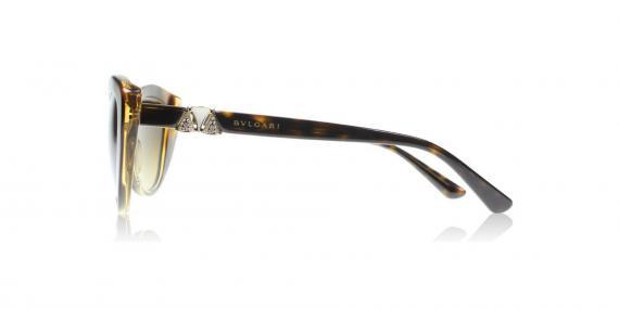 عینک آفتابی بولگاری - مدل گربه ای - رنگ قهوه ای هاوانا - زاویه کنار