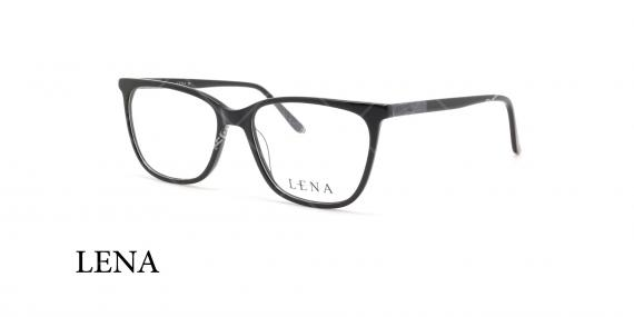 عینک طبی لنا - LENA LE412 - مشکی  - عکاسی وحدت - عکس زاویه سه رخ