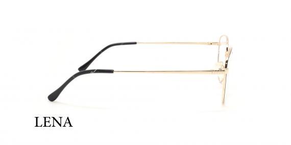 عینک طبی چندضلعی لنا - LENA LE451 - رنک طلایی - عکاسی وحدت - عکس زاویه کنار