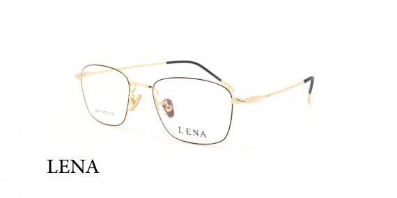عینک طبی لنا - LENA LE406 - مشکی طلایی - عکاسی وحدت - عکس زاویه سه رخ