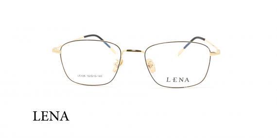عینک طبی لنا - LENA LE406 - مشکی طلایی - عکاسی وحدت - عکس زاویه روبرو