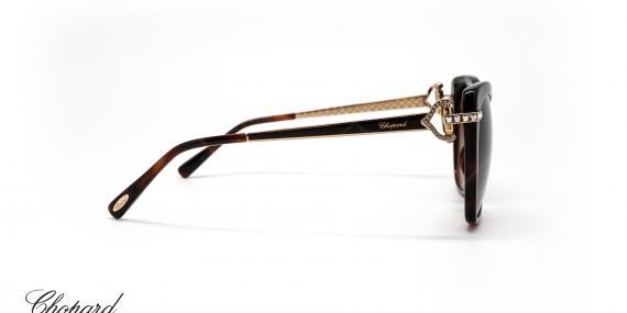 عینک آفتابی گربه ای کائوچویی شوپارد -  CHOPARD SCH232S - رنگ قهوه ای هاوانا - عکاسی از عینک وحدت - عکس زاویه کنار