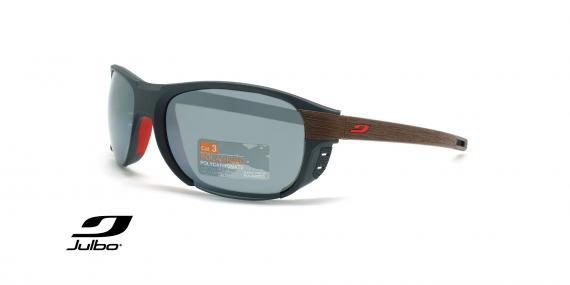 عینک آفتابی دسته چوب پولاریزه جولبو - مدل Regatta - عکاسی وحدت - زاویه سه رخ
