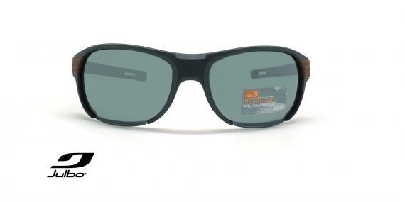 عینک آفتابی دسته چوب پولاریزه جولبو - مدل Regatta - عکاسی وحدت - زاویه روبرو