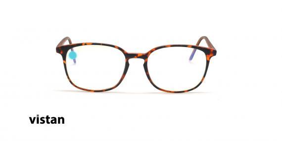 عینک آماده بلوکنترل مربعی ویستان VISTAN OB1028 M - قهوه ای هاوانا - عکاسی وحدت - زاویه روبرو