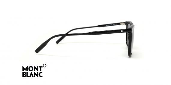 عینک آفتابی مون بلان - رنگ مشکی و عدسی دودی - عکس زاویه کنار