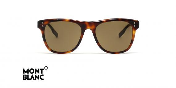 عینک آفتابی کائوچویی قهوه ای هاوانا مون بلان - زاویه روبرو