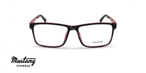 عینک طبی رویه دار موستانگ - MUSTANG MU6931- رنگ مشکی قرمز - عکاسی وحدت - عکس زاویه روبرو