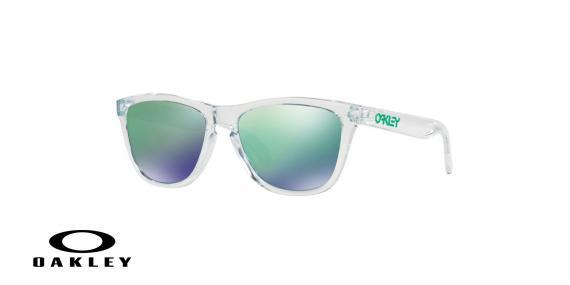 عینک آفتابی اوکلی بدنه شیشه ای عدسی رنگ سبز جیوه ای - زاویه سه رخ - ویژه فروش آنلاین
