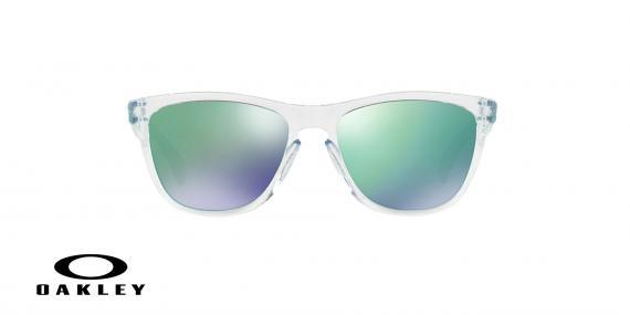 عینک آفتابی اوکلی بدنه شیشه ای عدسی رنگ سبز جیوه ای - زاویه روبرو - ویژه فروش آنلاین