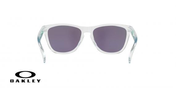 عینک آفتابی اوکلی بدنه شیشه ای عدسی رنگ سبز جیوه ای - زاویه پشت - ویژه فروش آنلاین