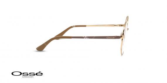 عینگ گرد فلزی اوسه - Osse OS12244- رنک فریم بژ - عکاسی وحدت- عکس زاویه کنار