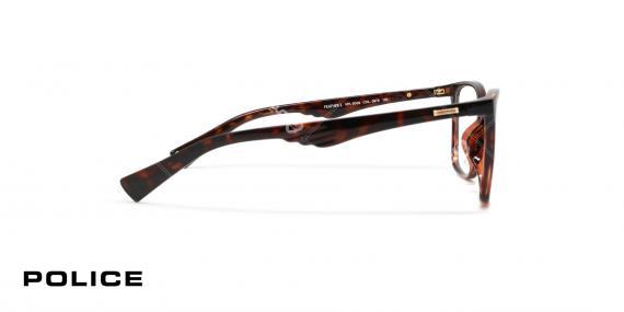 عینک طبی مربعی شکل قهوه ای هاوانا پلیس VPL504N - عکاسی وحدت - زاویه کنار