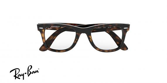 عینک طبی ویفرر ری بن - رنگ قهوه ای هاوانا - ray ban wayferer ease - زاویه روبرو