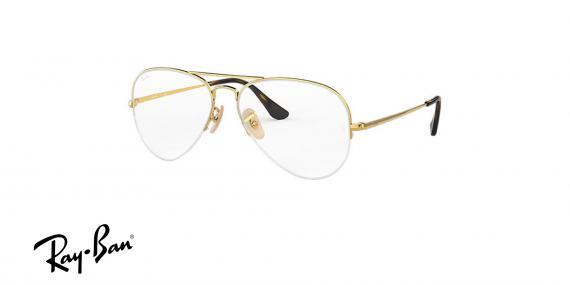 عینک طبی زیرگریف خلبانی ری بن - رنگ طلایی - زاویه سه رخ