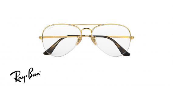 عینک طبی زیرگریف خلبانی ری بن - رنگ طلایی - زاویه روبرو