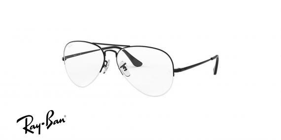 عینک طبی زیرگریف طرح خلبانی ری بن - Rayban - رنگ مشکی - زاویه سه رخ