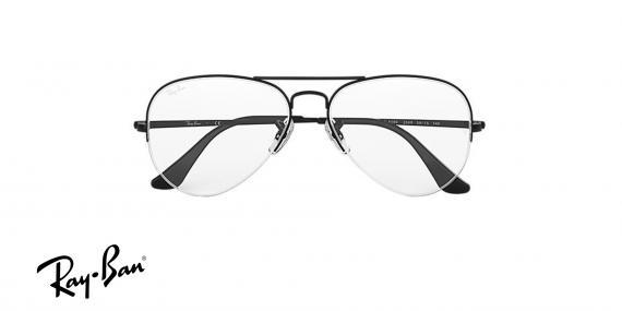 عینک طبی زیرگریف طرح خلبانی ری بن - Rayban - رنگ مشکی - زاویه روبرو