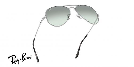 عینک آفتابی ری بن طرح خلبانی - بدنه نقره - شیشه فتوکرومیک - زاویه تمام رخ