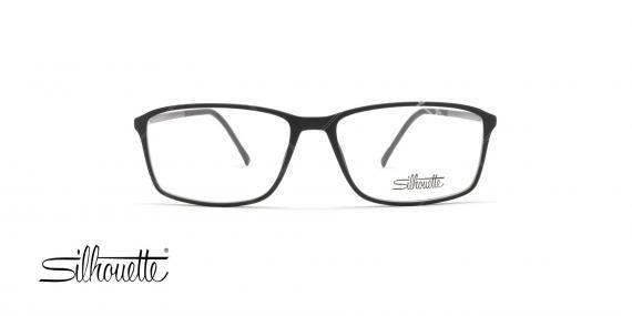 عینک طبی سیلوت - فریم مشکی حدقه مستطیلی - عکاسی وحدت - زاویه رو به رو