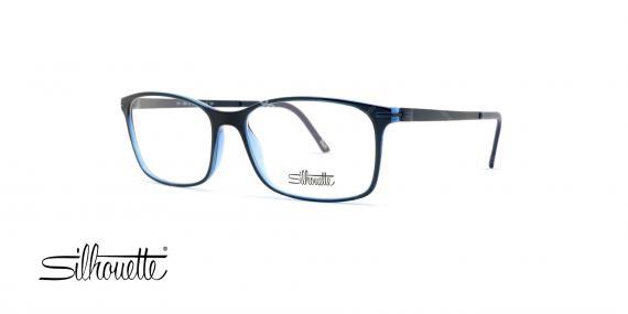 عینک طبی کائوچی آبی سرمه ای سیلهوئت - عکاسی وحدت - زاویه سه رخ
