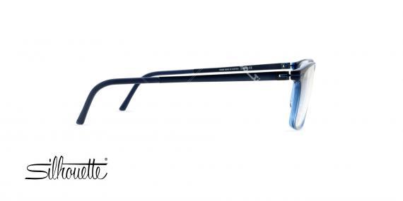 عینک طبی کائوچی آبی سرمه ای سیلهوئت - عکاسی وحدت - زاویه کنار