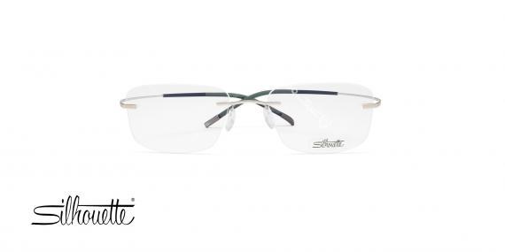 عینک طبی بدون لولا - نقره ای رنگ - TMA - عکاسی وحدت - زاویه روبرو