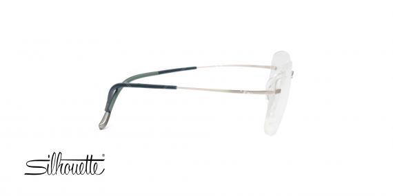 عینک طبی بدون لولا - نقره ای رنگ - TMA - عکاسی وحدت - زاویه کنار