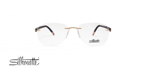 عینک طبی گریف سیلهوئت - مشکی طلایی - حدقه خلبانی - عکاسی وحدت - زاویه روبرو